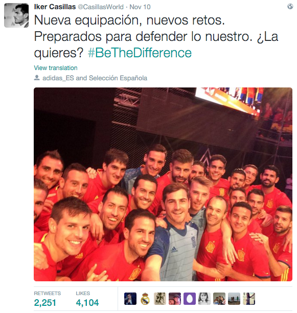 Casillas #bethedifference arnoldmadrid