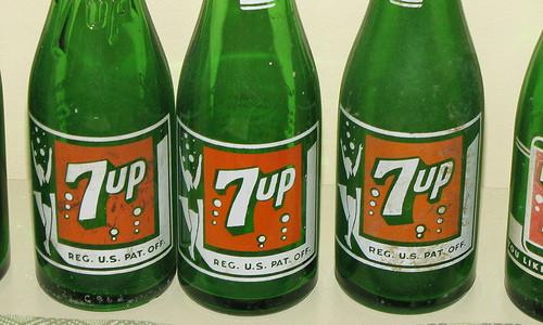 Botellas Seven Up Vintage