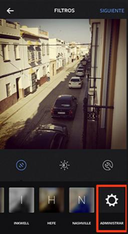 Administrador de filtros Instagram