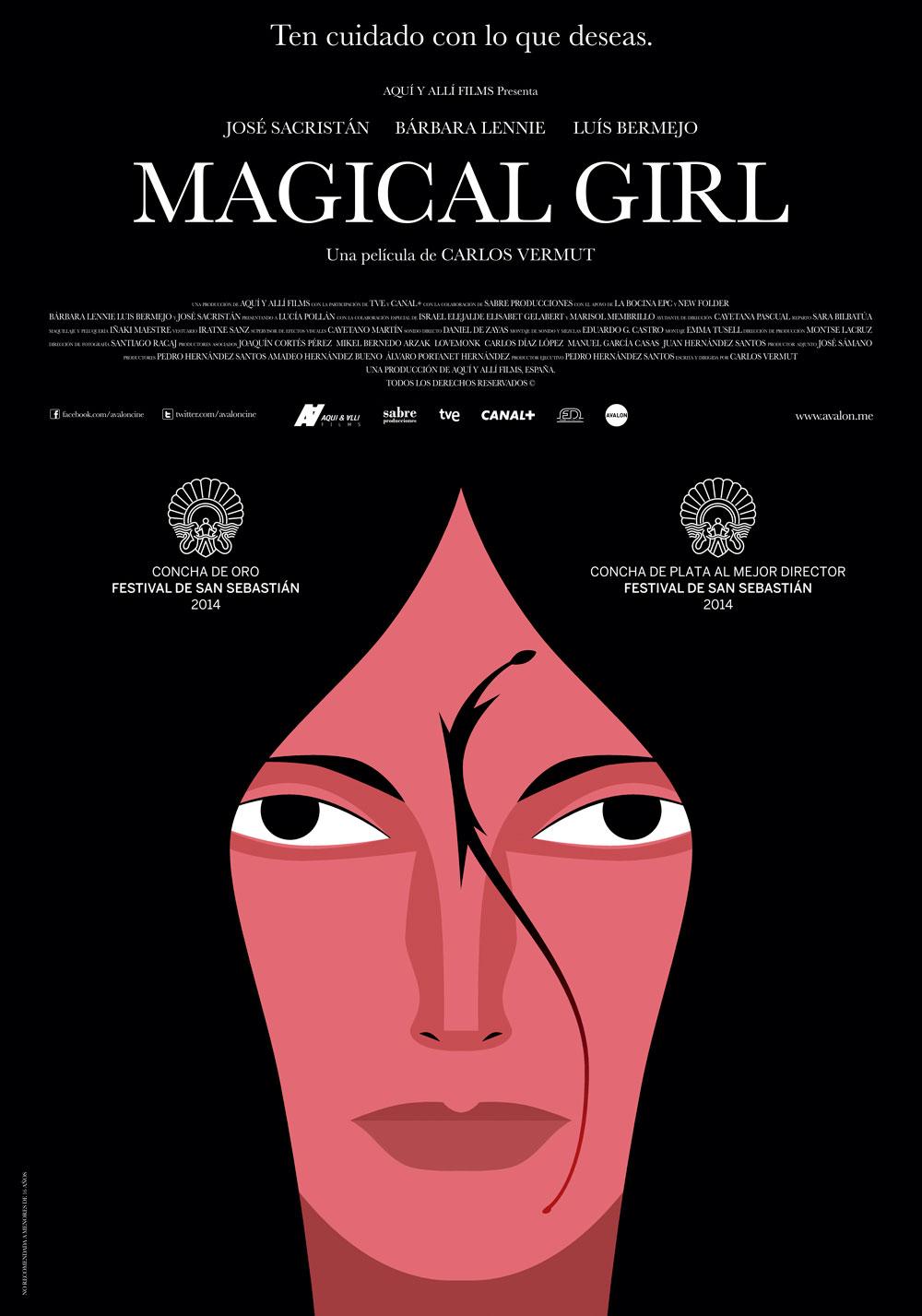 Magical Girl cartel. Fuente: Graffica http://graffica.info/carlos-vermut-cartel-magical-girl/