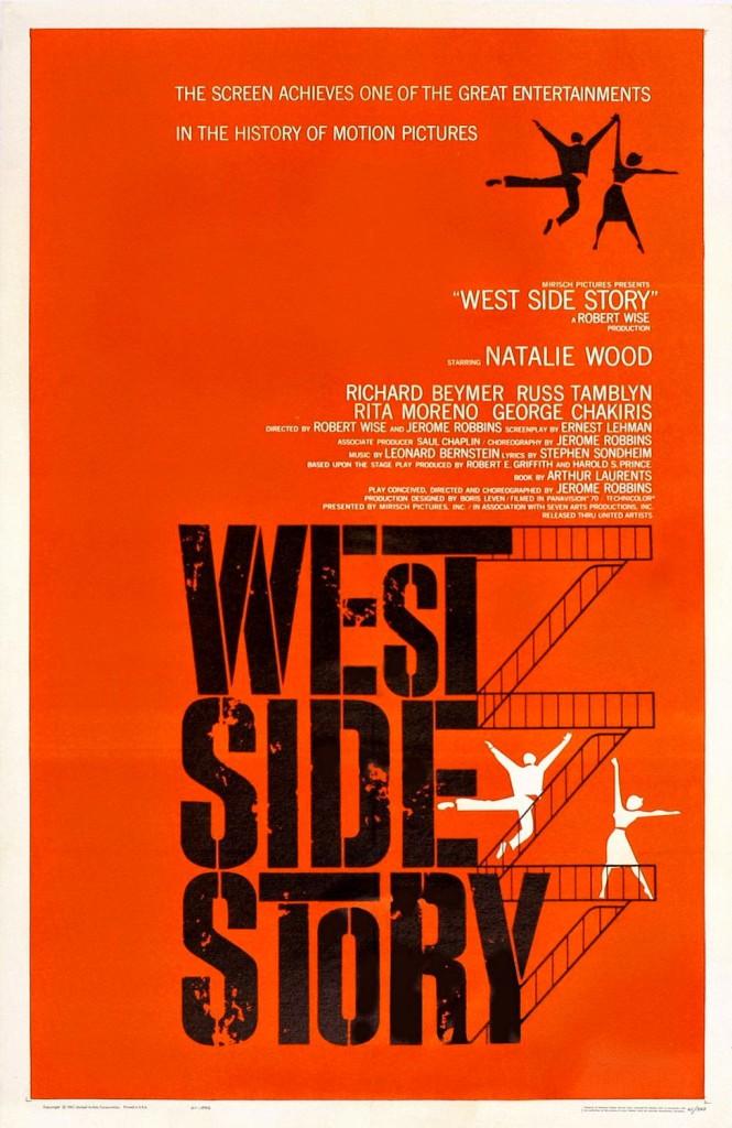 West Side Story. Fuente: Sleepy Days http://www.sleepydays.es/2015/03/8-cartelistas-imprescindibles-de-la.html